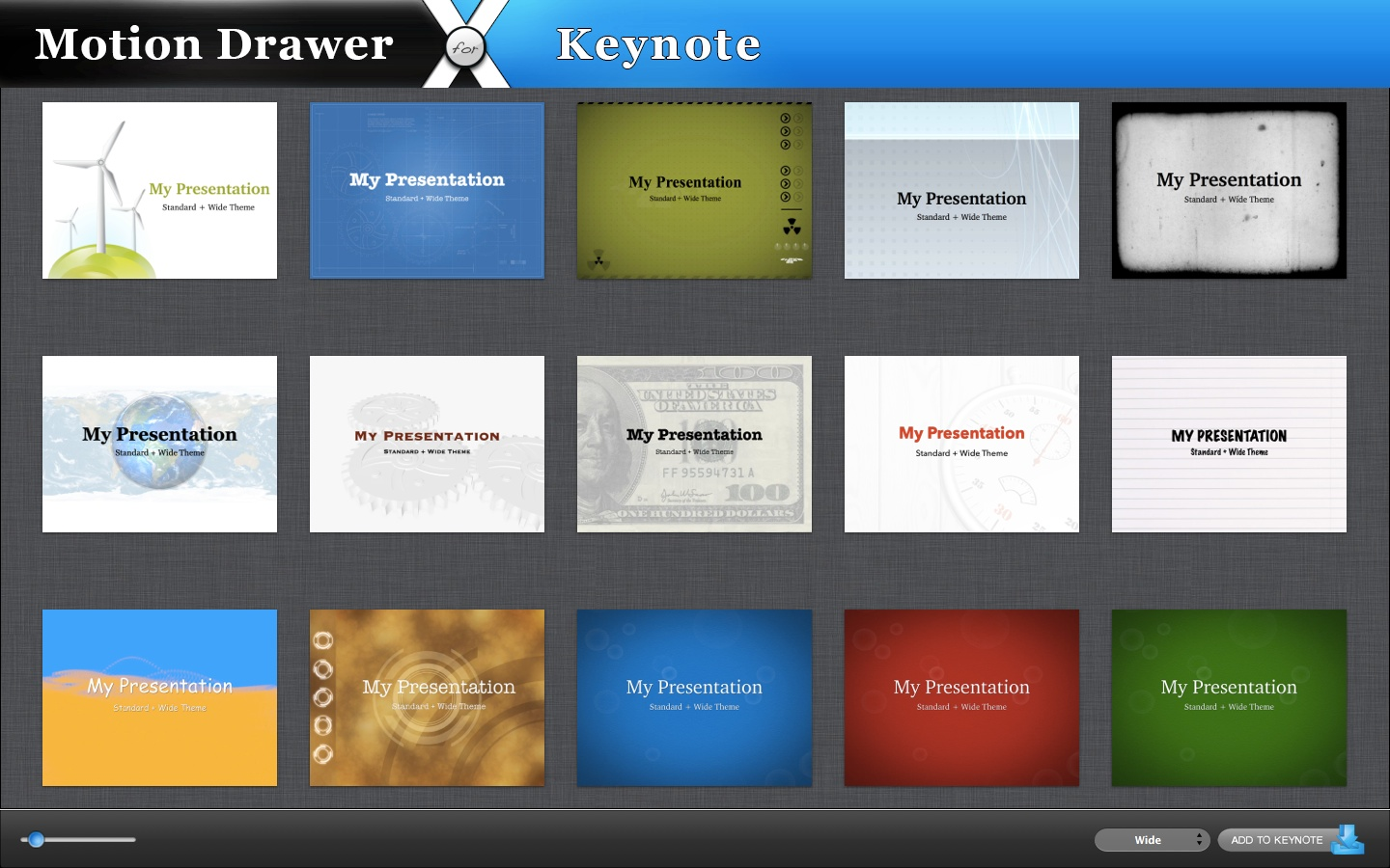 Motion Drawer for Keynote