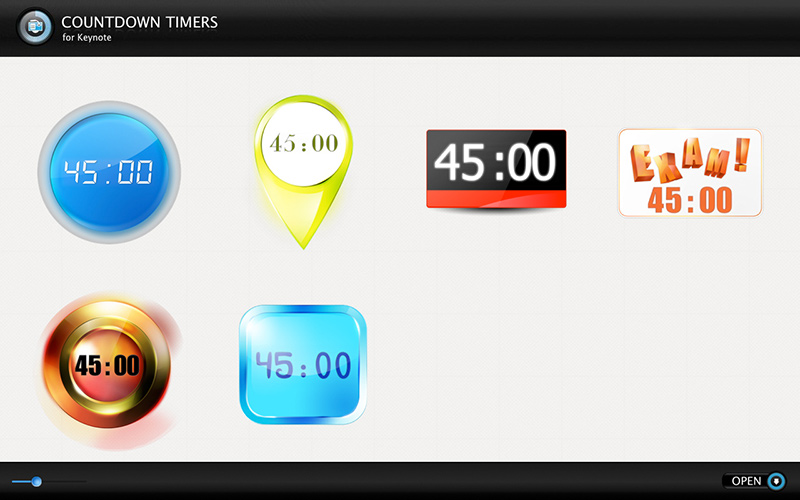 keynote countdown timers