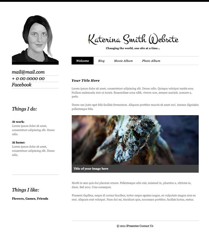personal theme rapidweaver ipresentee